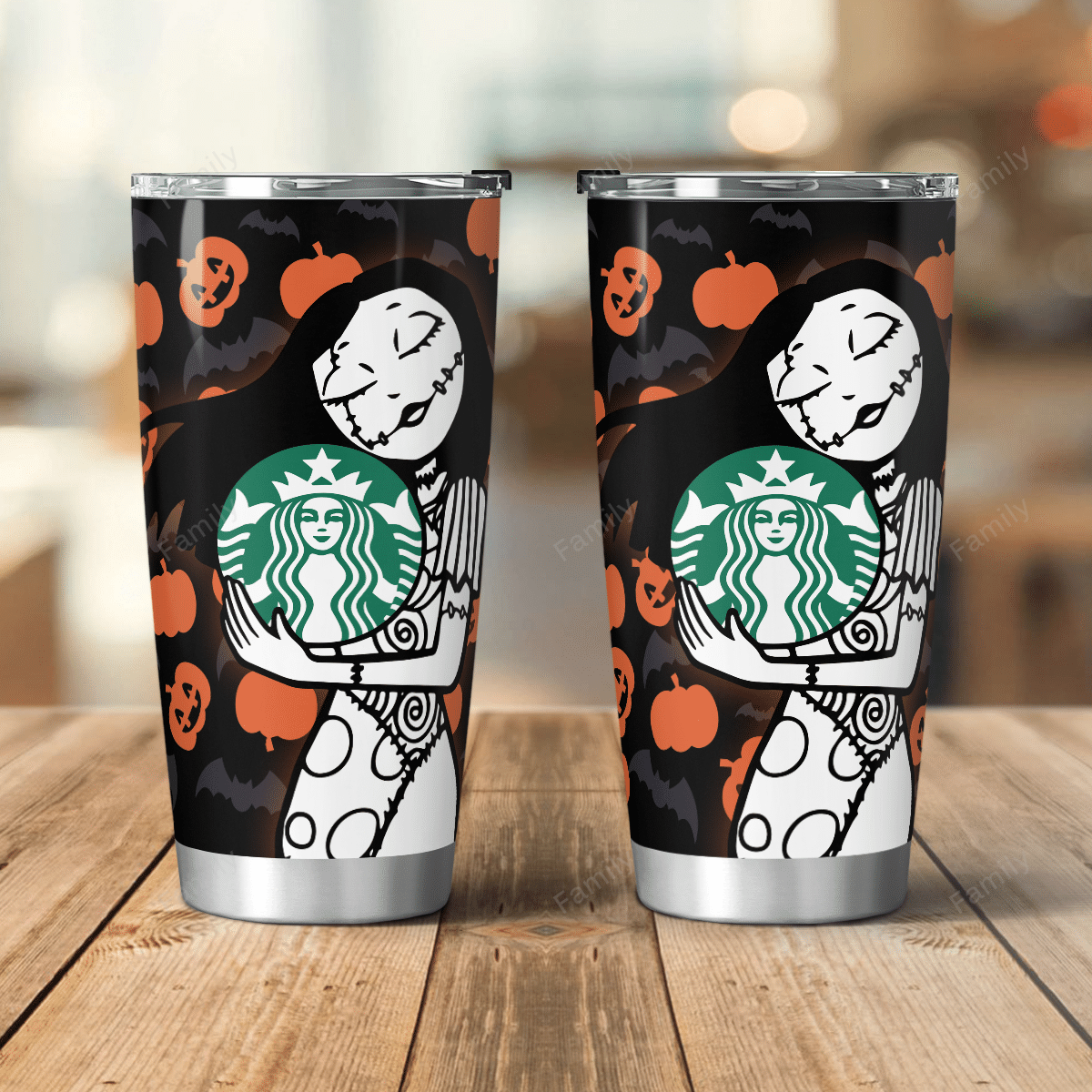 Sally Nightmare Pumpkin Starbucks Tumbler