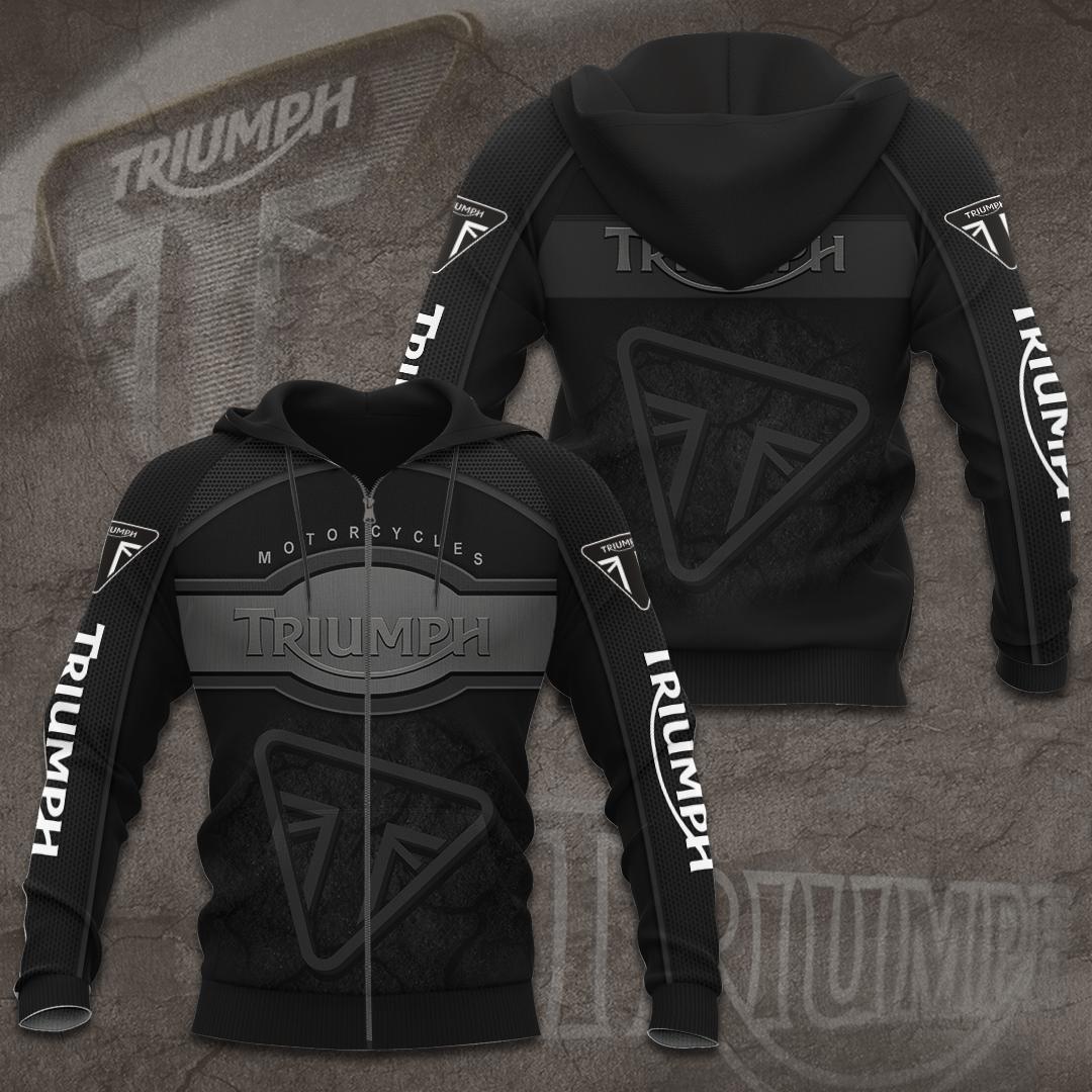 Triumph motor racing black 3D T-shirt hoodie sweatshirt