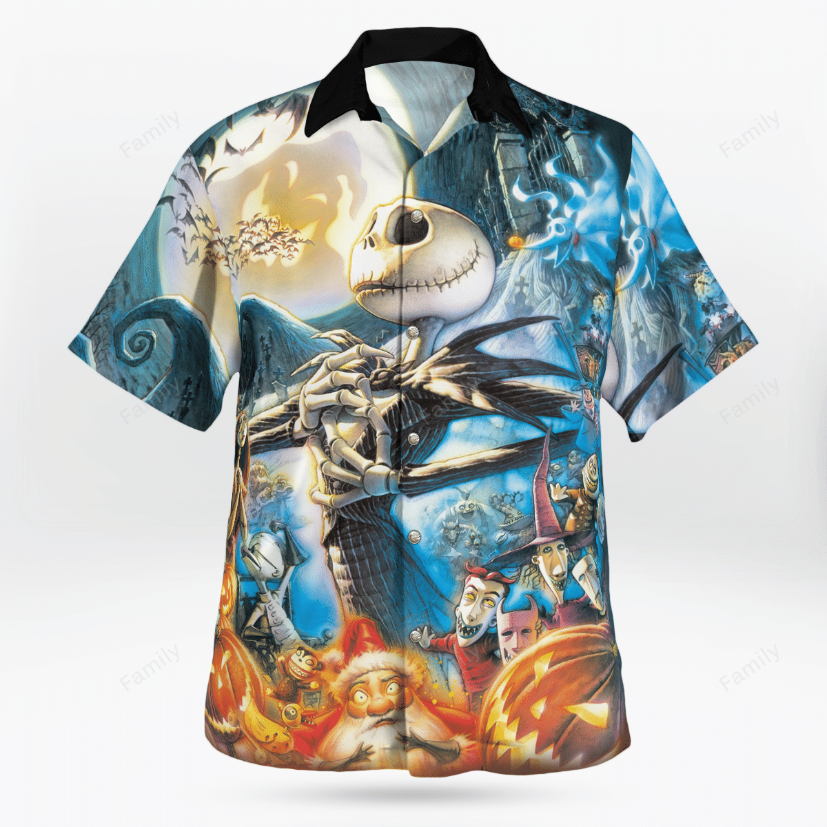 The NightMare artists Jack Skellington Halloween Hawaiian shirt