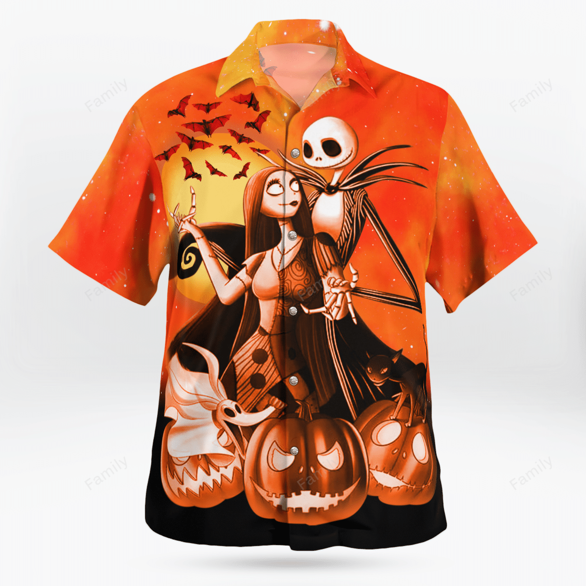 Halloween The Nightmare Skellington couple Hawaiian Shirt