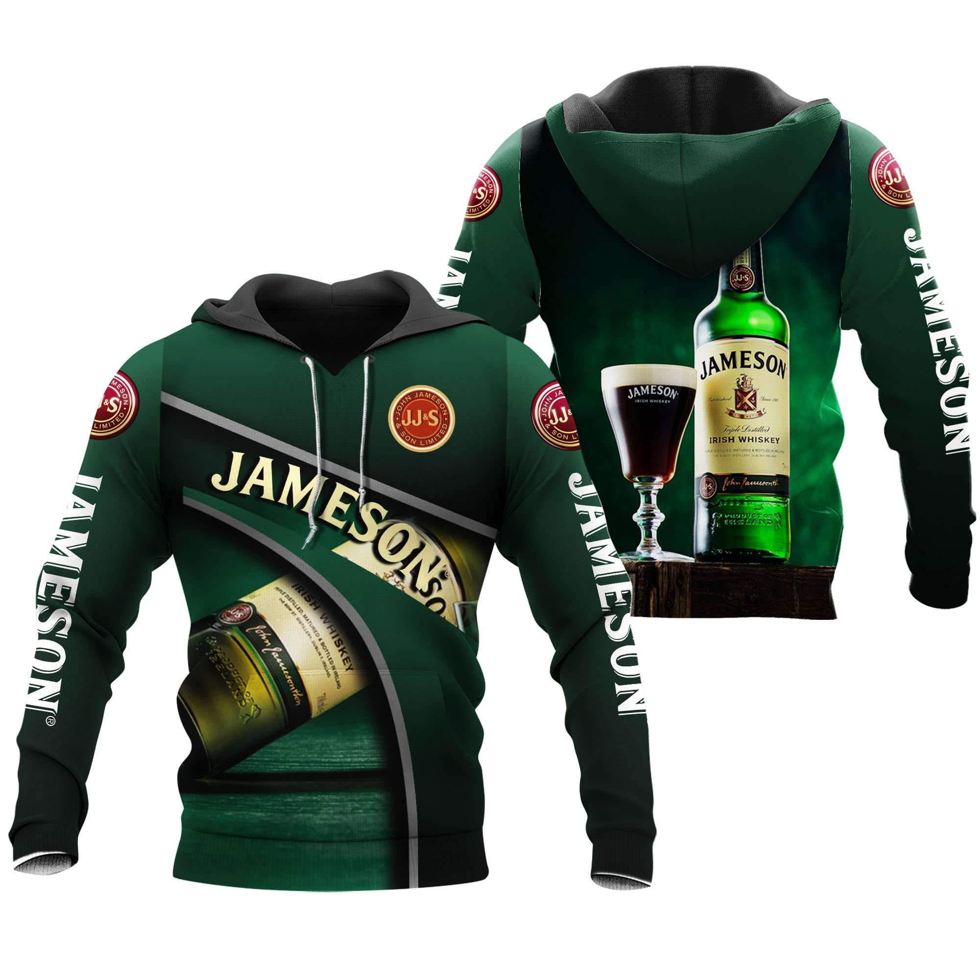 John Jameson and son whiskey All Over Printed Hoodie