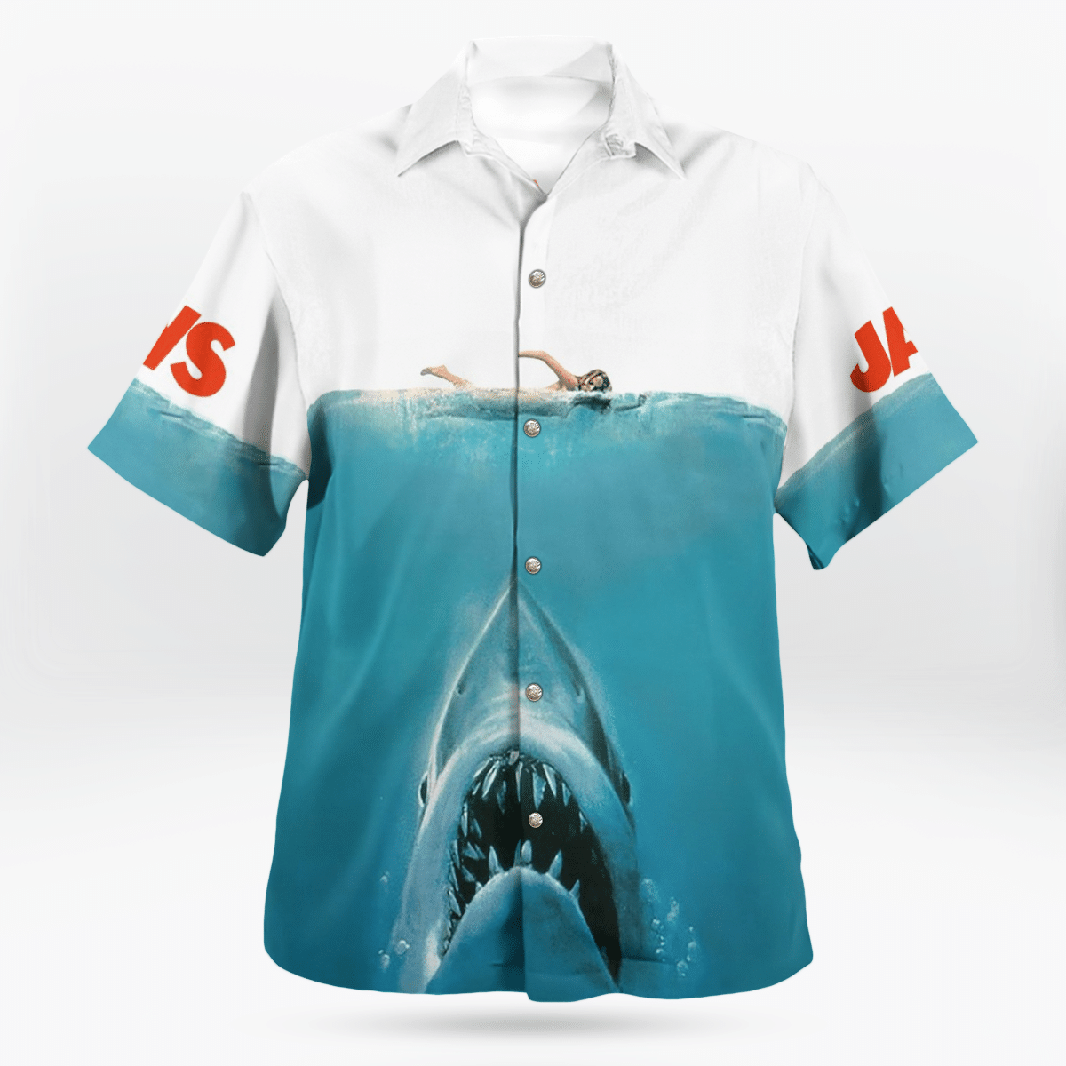 Jaws thriller film shark ocean Hawaiian Shirt and Short
