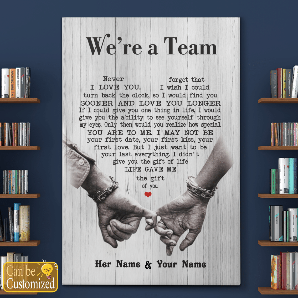 WE ARE A TEAM SOONER AND LOVE YOU LONGER LOVERS POSTER