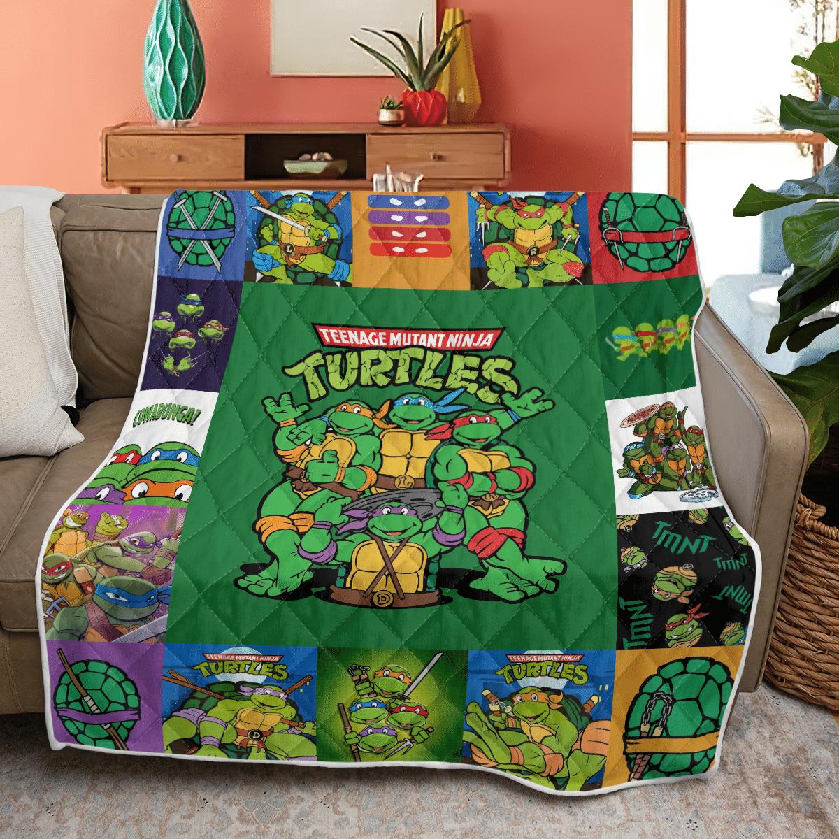 TMNT Teenage mutant ninja turtles Full Team Quilt blanket