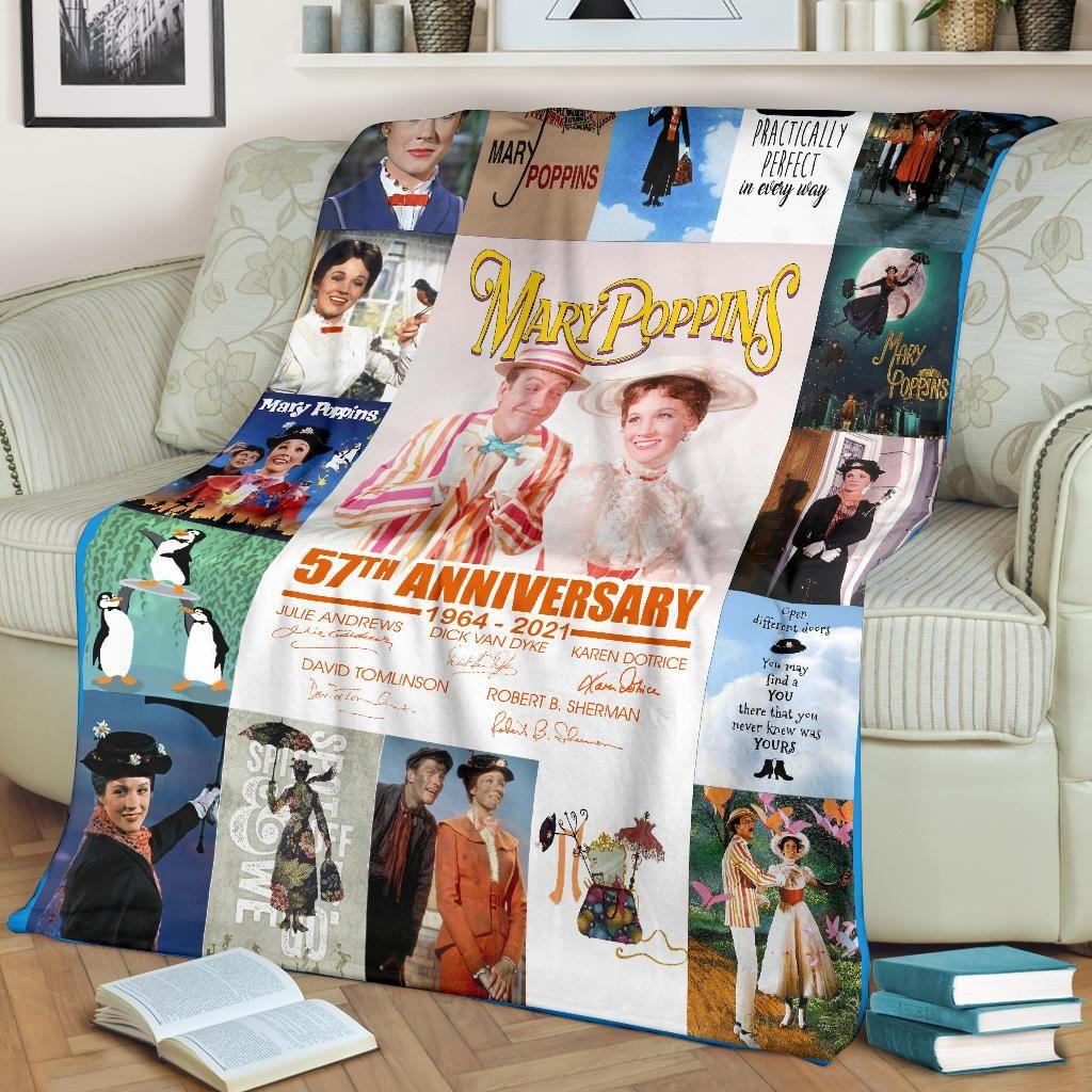 Mary Poppins 57th Anniversary 1964-2021 Signature Fleece Blanket