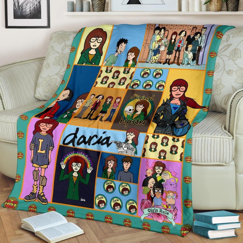 Daria Cartoon Fleece Blanket