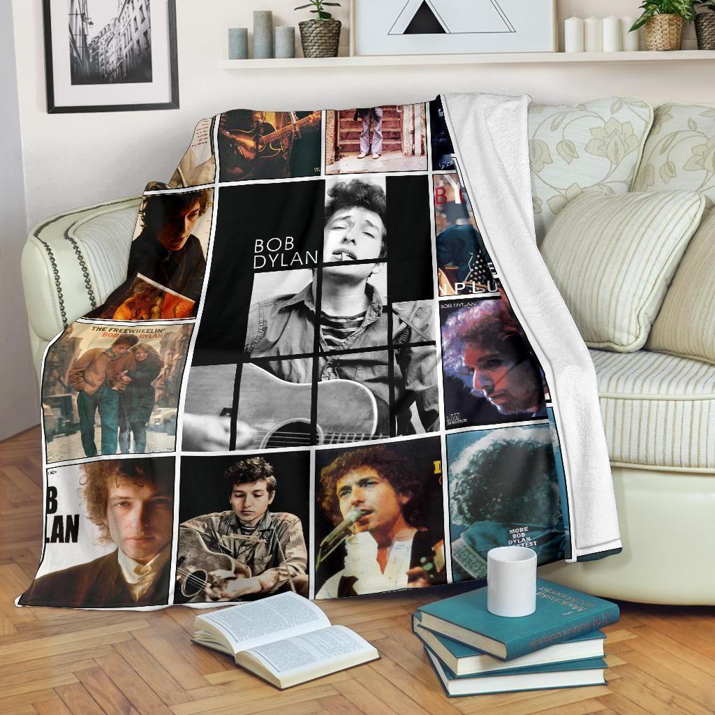 Bob Dylan Inspired Fleece Blanket