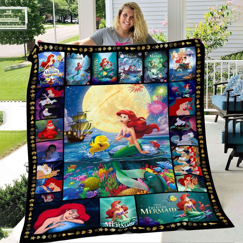 Ariel Princess THE LITTLE MERMAID Fleece BLANKET