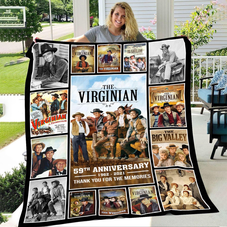 THE VIRGINIAN 59TH ANNIVERSARY 1962-2021 Fleece BLANKET