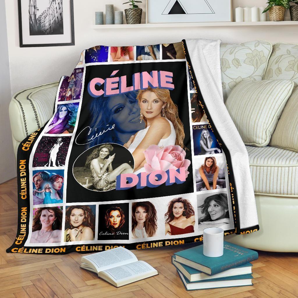 Celine Dion Albums Fleece Blanket