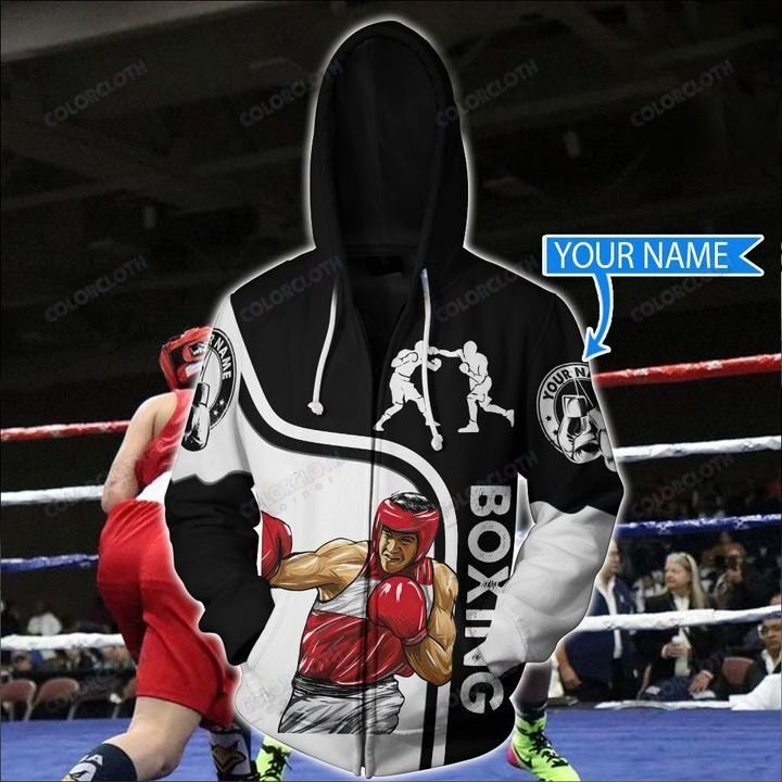 Personalized Boxing Black Hoodie 3D