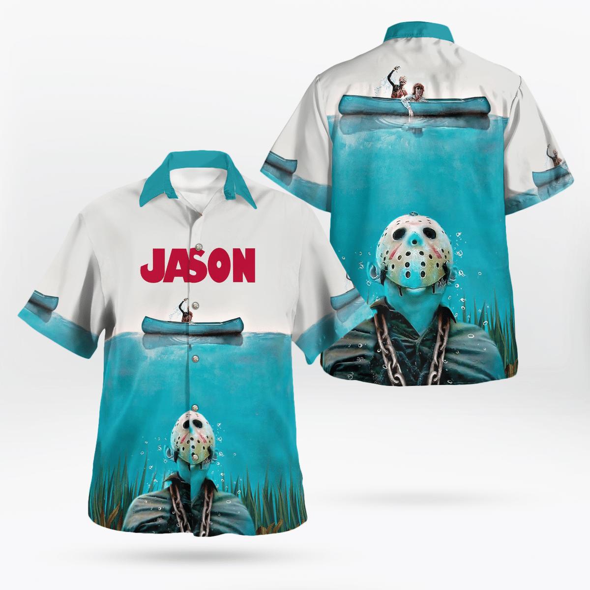 Jason Voorhees sank under the sea Hawaiian Shirt