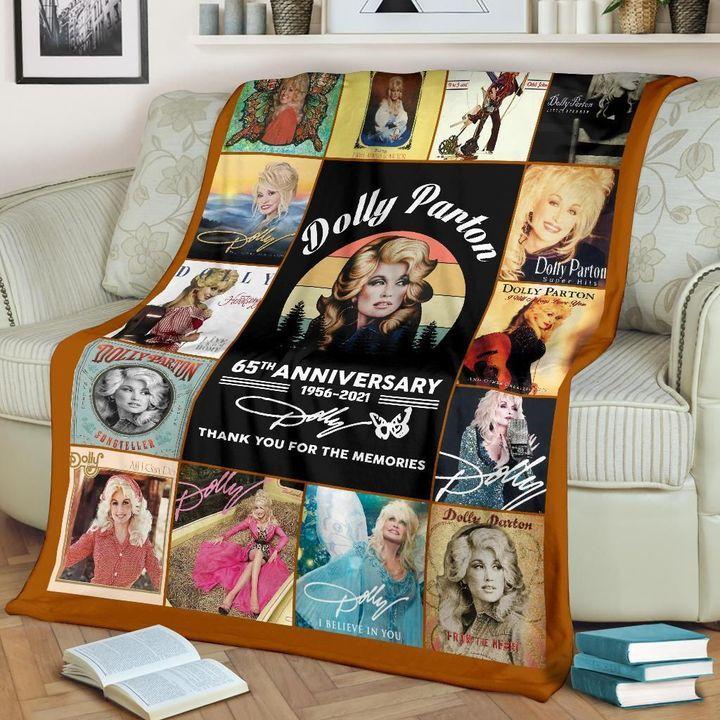 Dolly Parton 65th Anniversary 1956-2021 Fleece Blanket