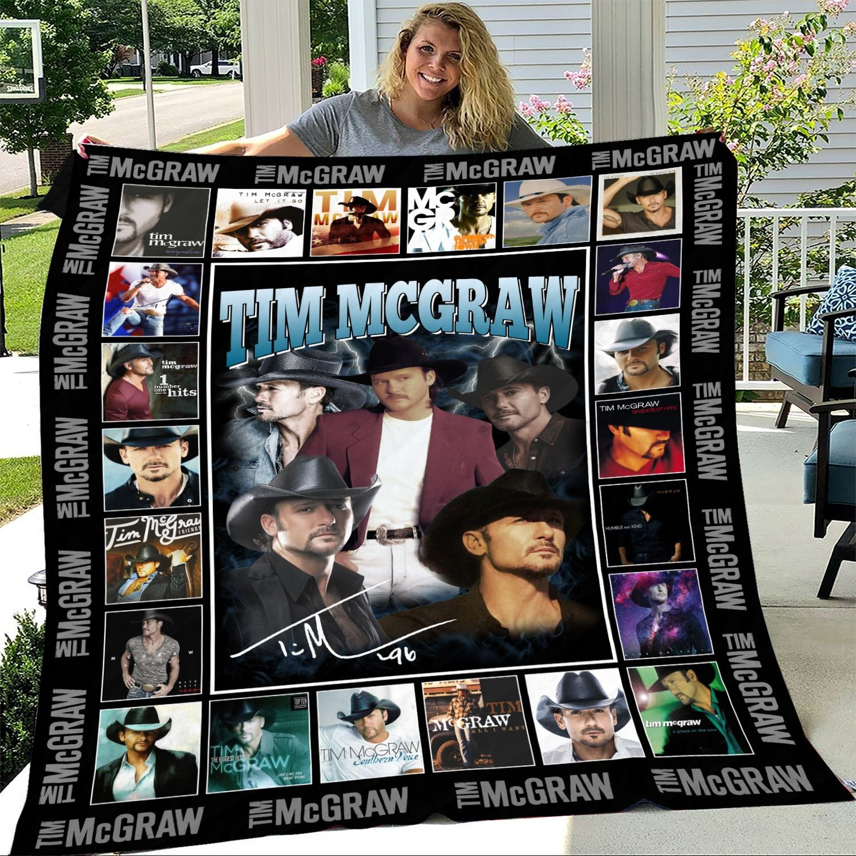 Tim McGraw Signature Fleece Blanket
