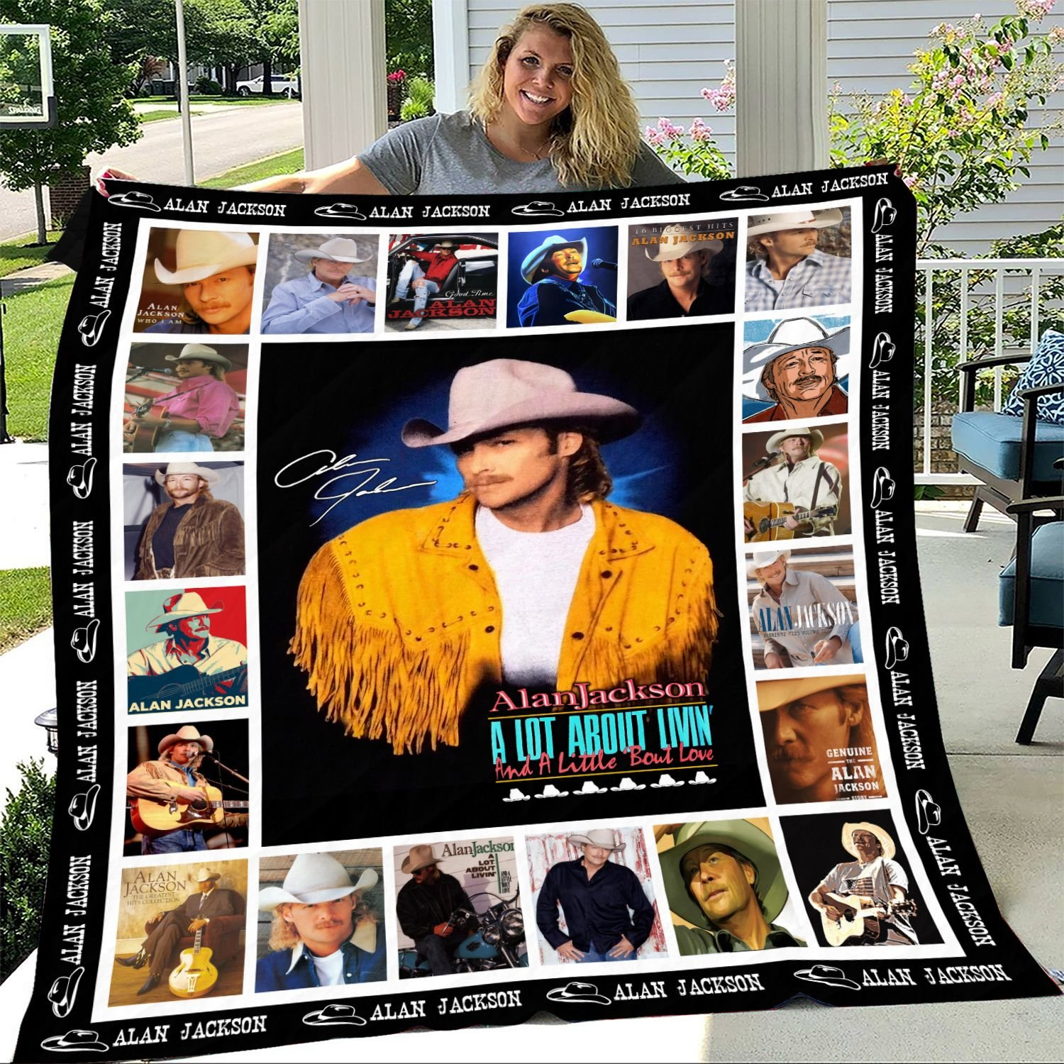 Alan Jackson A Lot About Livin' and A Little 'Bout Love Fleece Blanket
