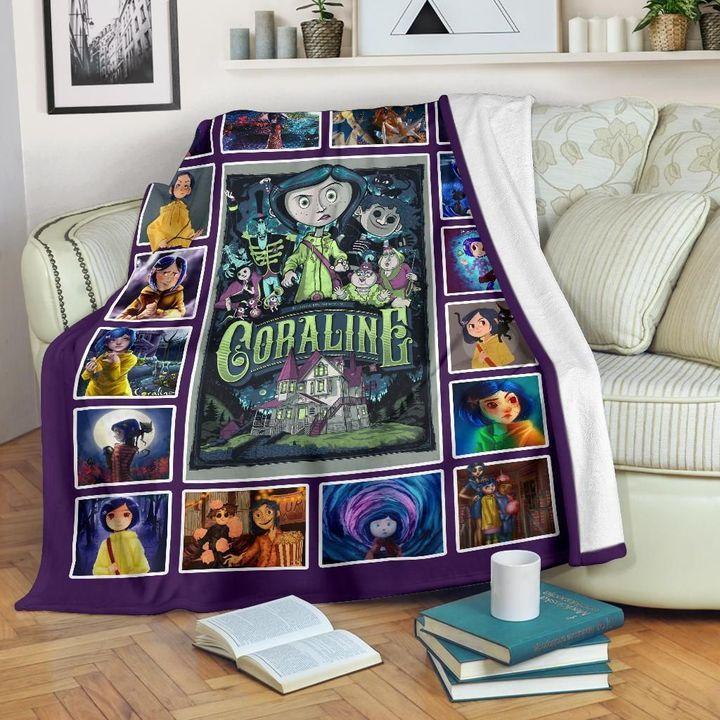Coraline Inspired Fleece Blanket