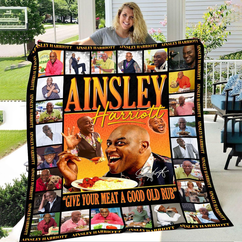 Ainsley Harriott - Give Your Meat A Good Old Rub Fleece Blanket