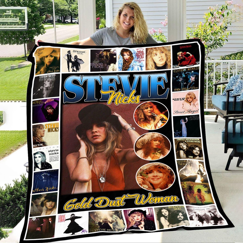 Stevie Nicks Gold Dust Woman Fleece Blanket