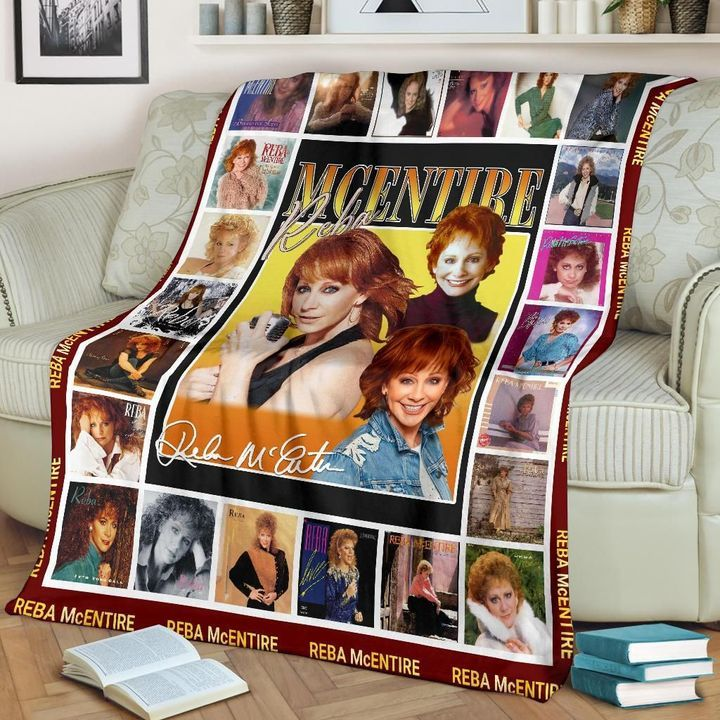 Reba McEntire singer Fleece Blanket