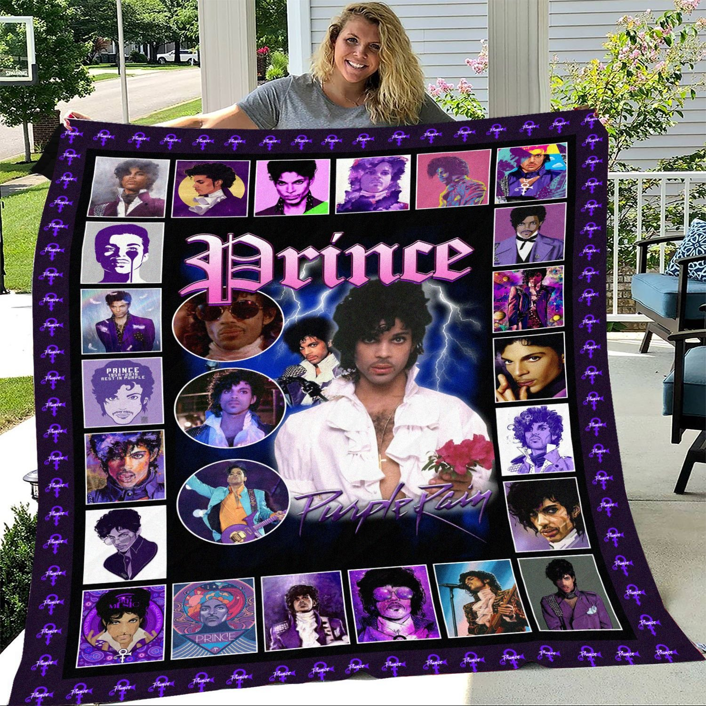 Prince Purple Rain Fleece Blanket