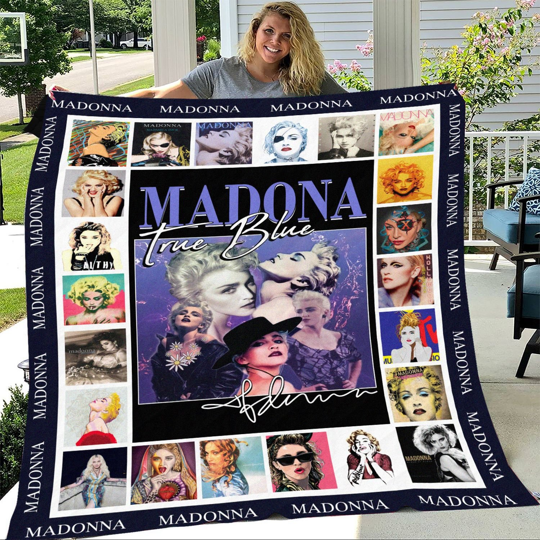 Madona True Blue Signature Fleece Blanket