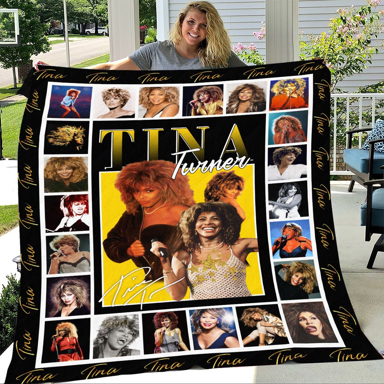 Tina Turner Inspired Fleece Blanket