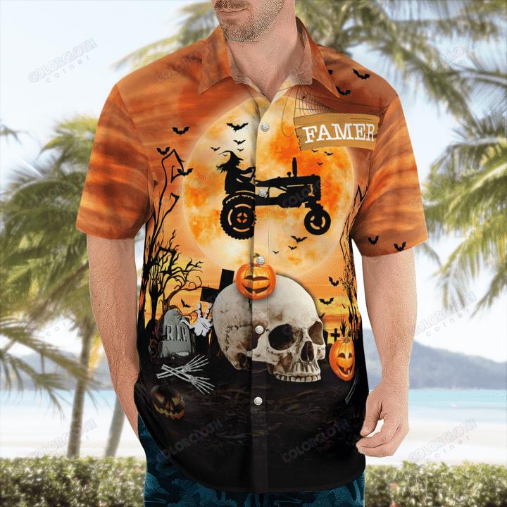 Tractor Halloween Hawaiian Shirt