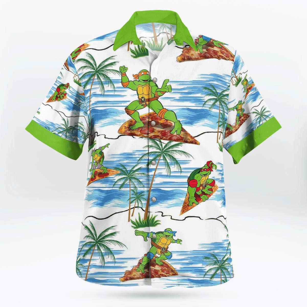 TMNT Ninja Turtles Pizza Beach Hawaiian Shirt