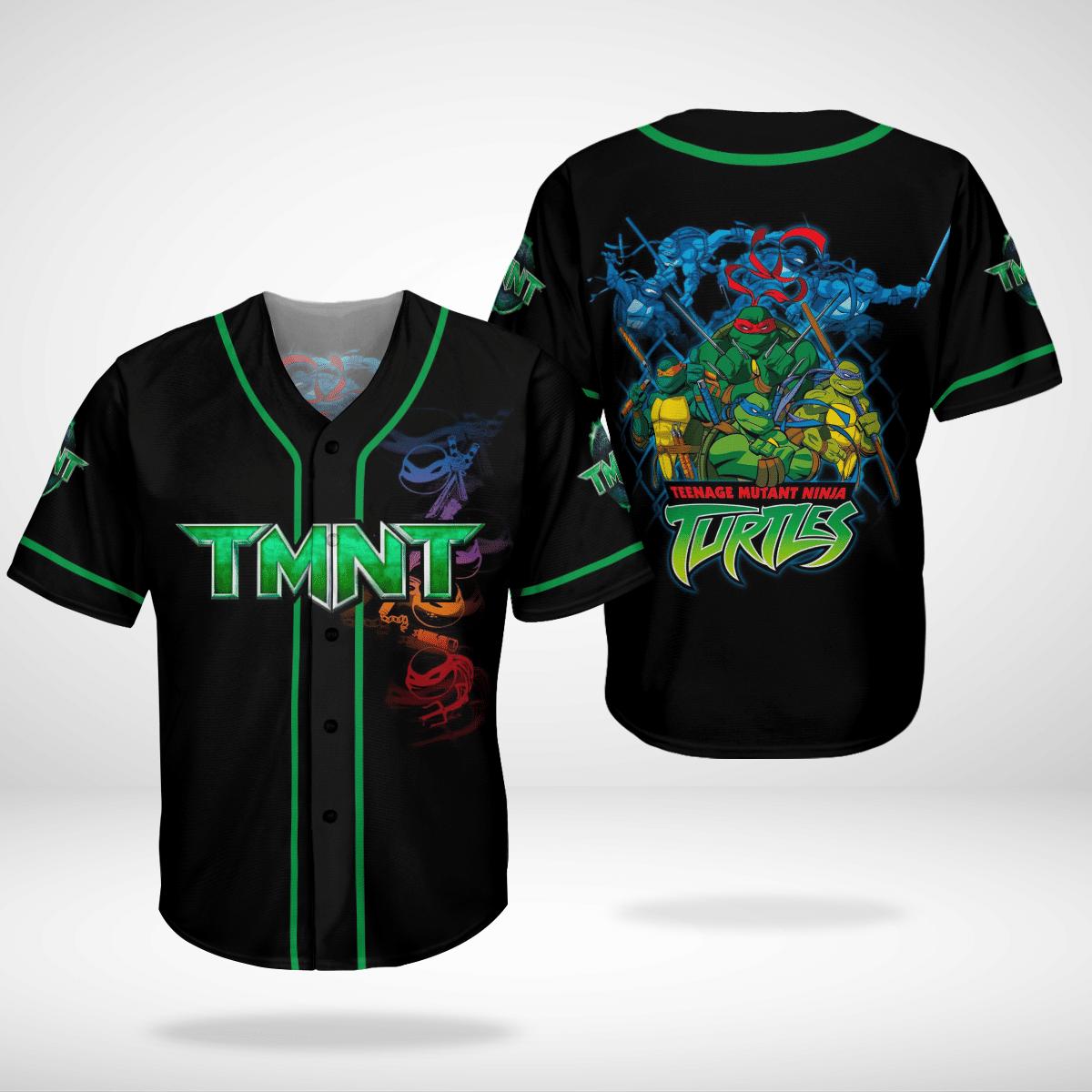 TMNT Teenage mutant ninja turtles Full Team baseball Jersey Shirt