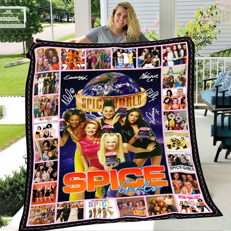 Spice Girls Albums Fleece Blanket