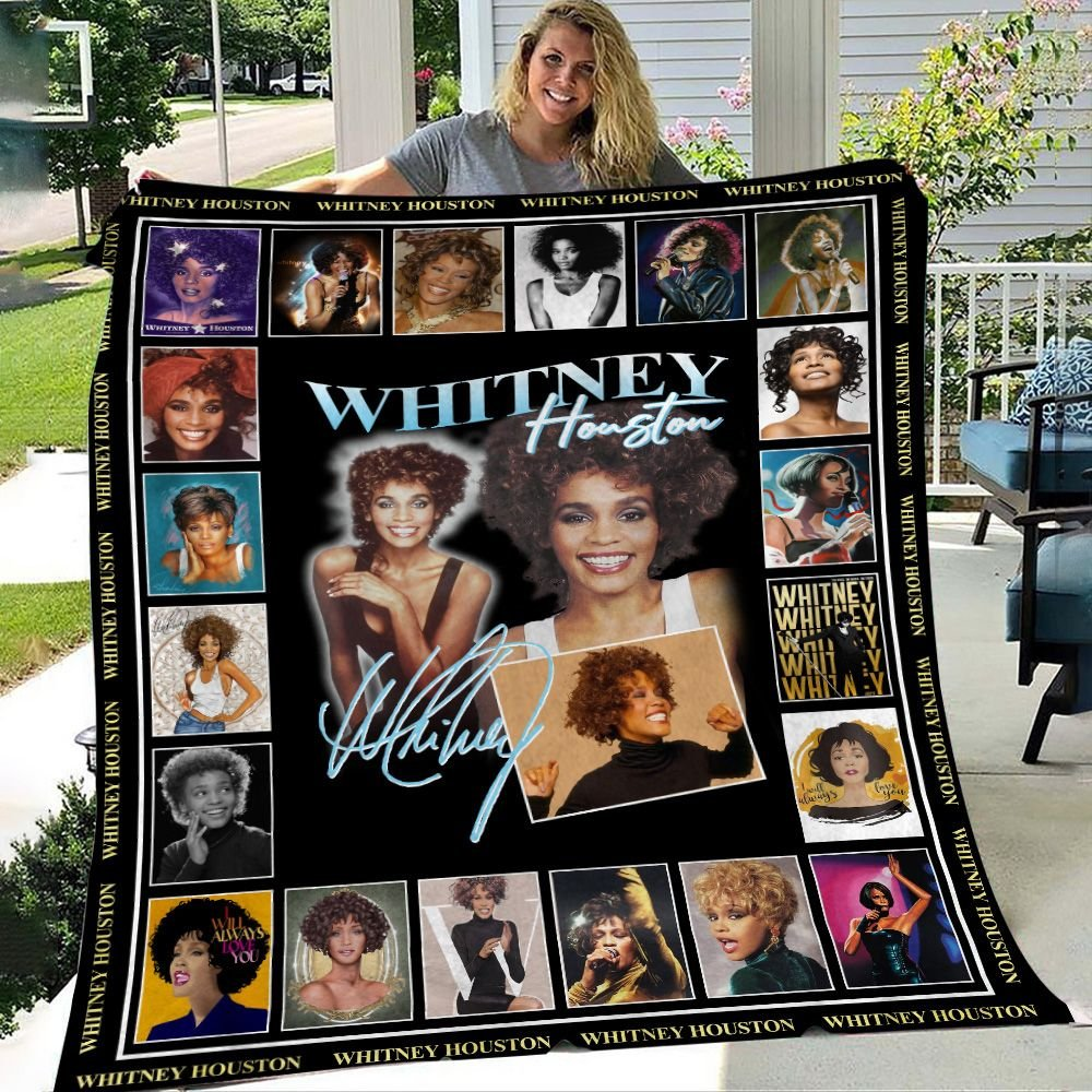 Whitney Houston Signature Fleece Blanket