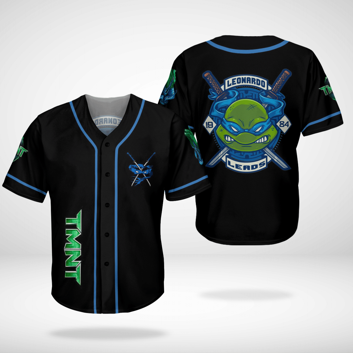 Leonardo TMNT Ninja Turtles baseball Jersey shirt
