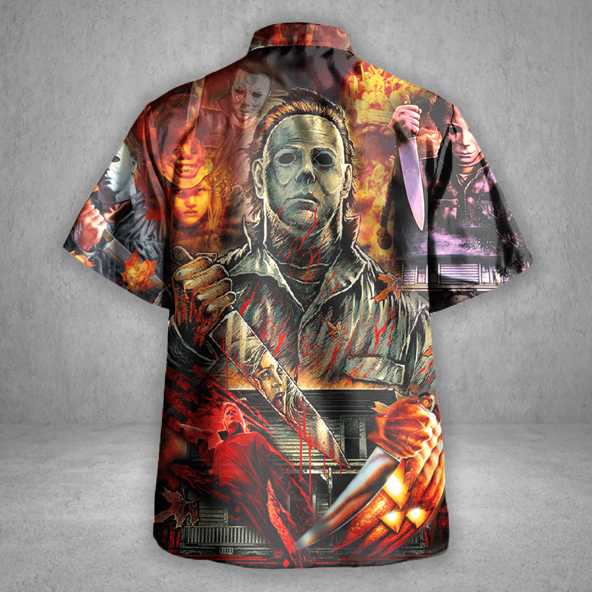 Halloween Michael Myers A Real Man Will Chase Affter You Hawaiian shirt