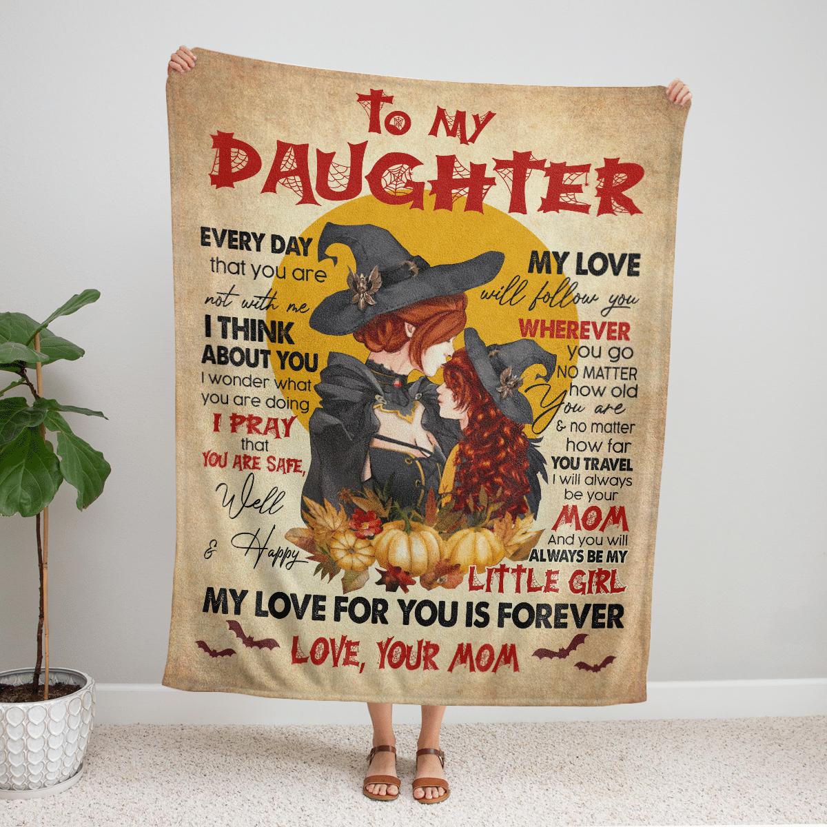 HALLOWEEN WITCH TO MY DAUGHTER FLEECE BLANKET
