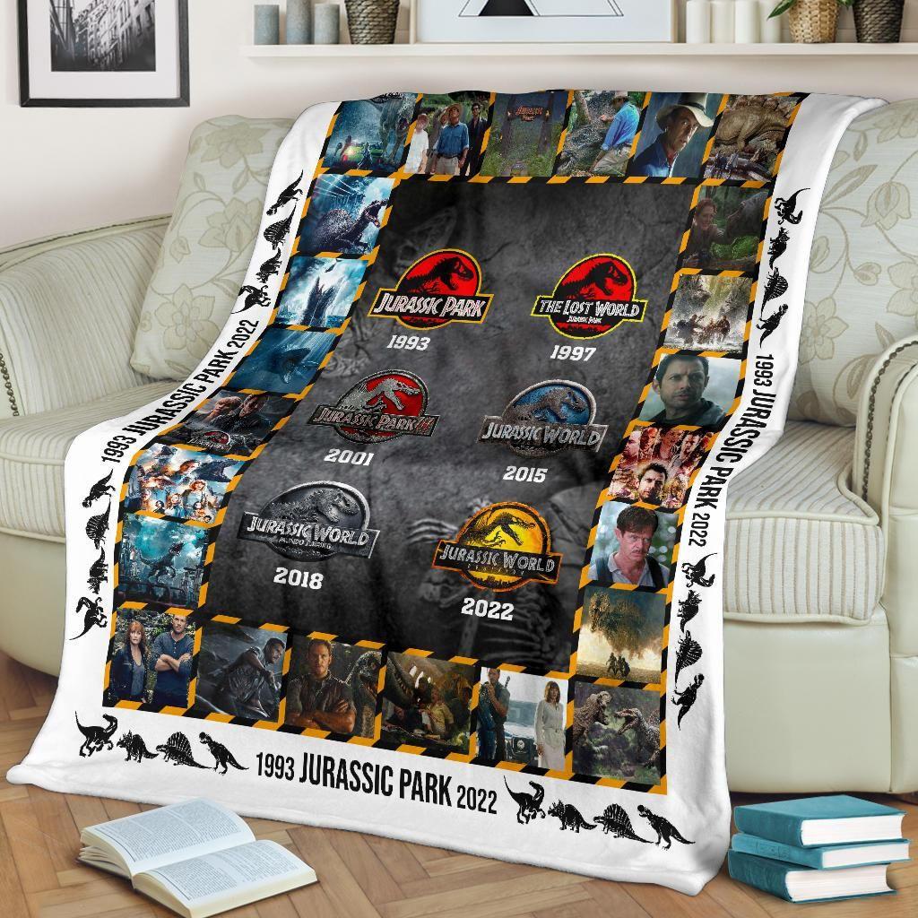 Jurassic Park Inspired Fleece Blanket