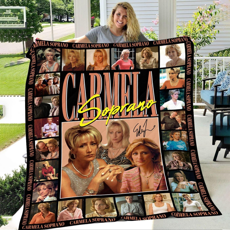 Carmela Soprano with Signature Fleece Blanket