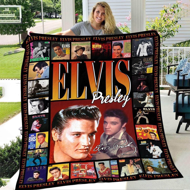 Elvis Presley Inspired Fleece Blanket