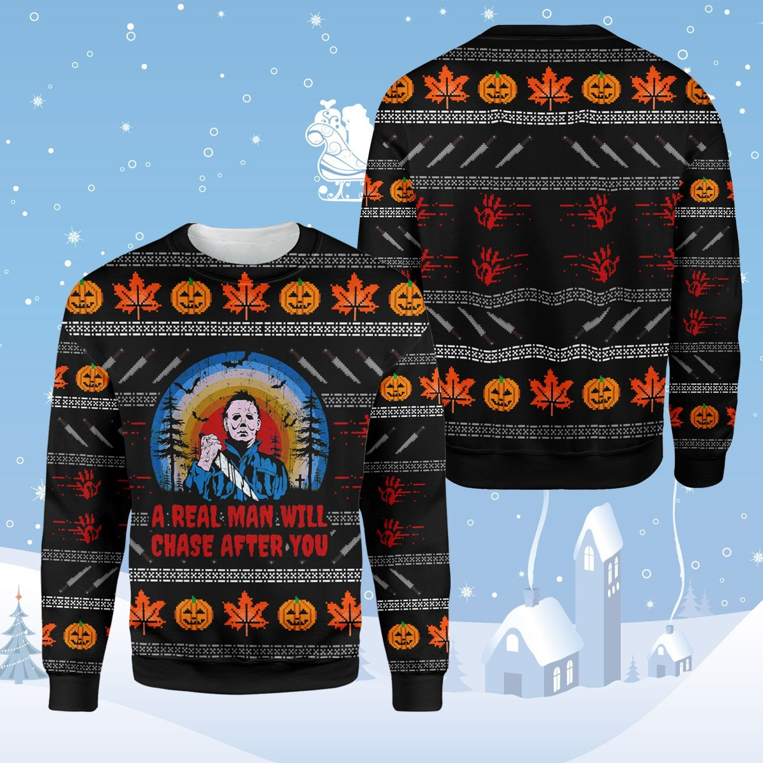 Michael Myers Halloween Horror Ugly Sweater