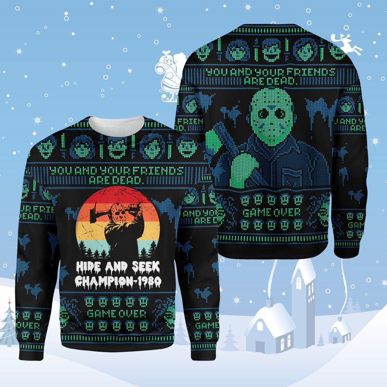Jason Voorhees Halloween Ugly Sweater