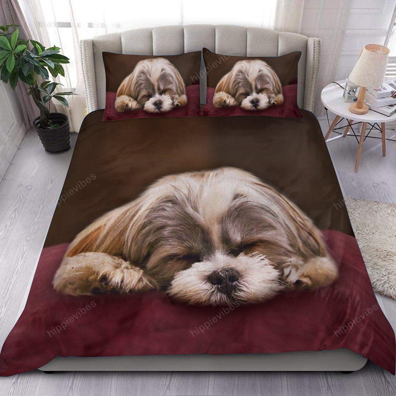 Cute Shih Tzu Sleeping 3D All Over Printed Bedding Set