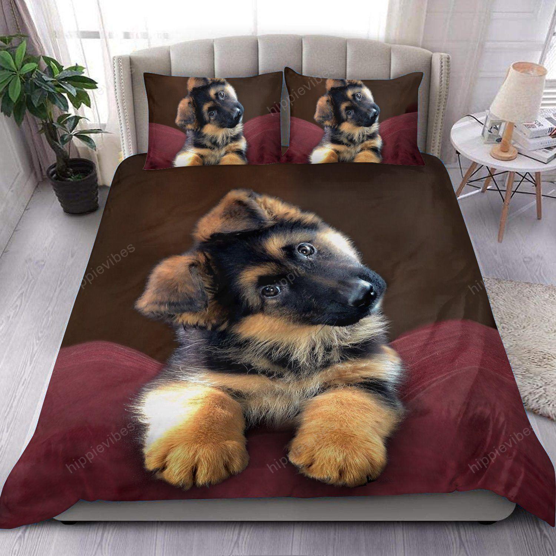 Cute German Shepherd Sleeping Bedding Set