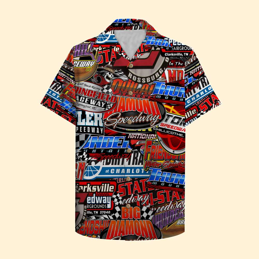 Racing Racetrack Logo Hawaiian Shirt For Fan