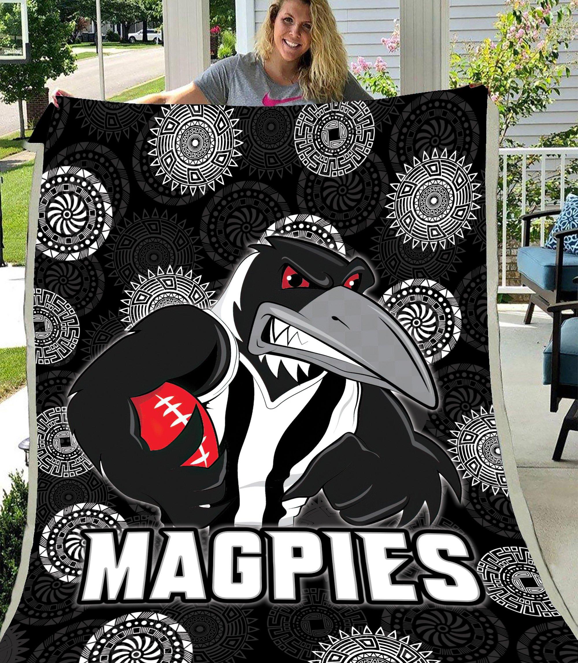 AFL Collingwood Magpies Fleece Blanket
