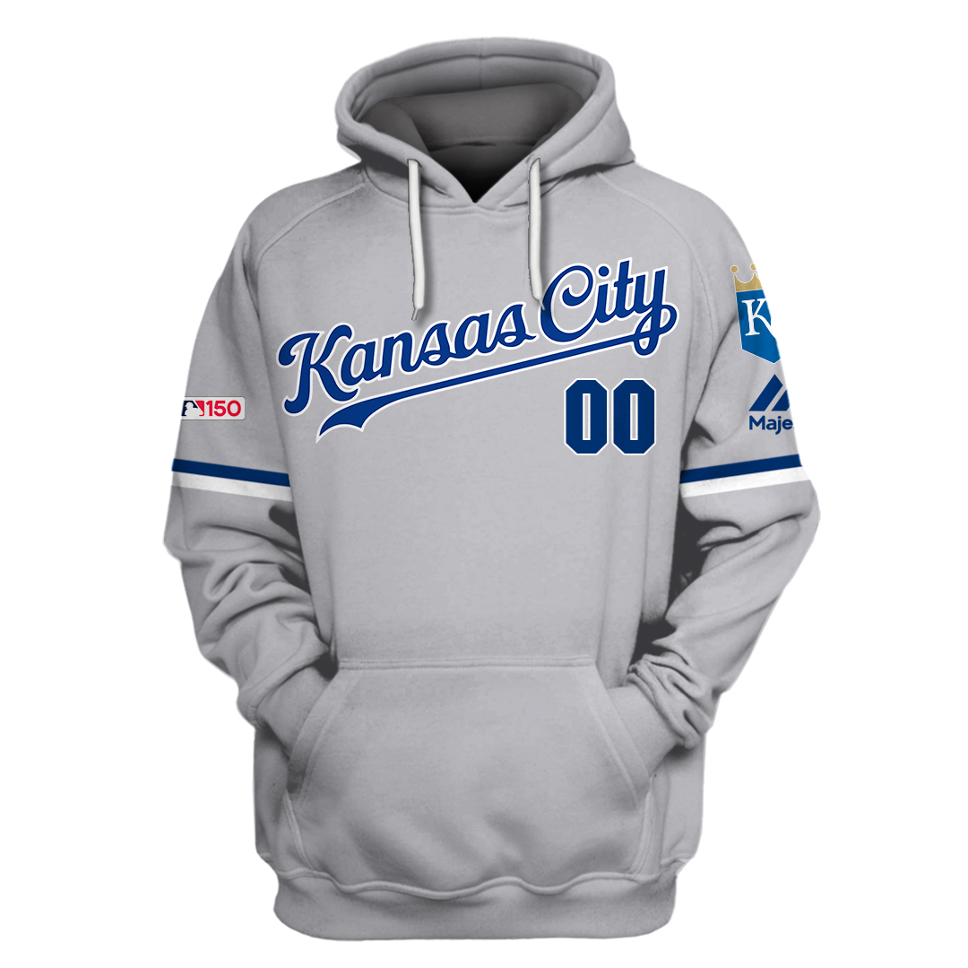 Personalized Kansas City Royals 3D hoodie and sweatshirt