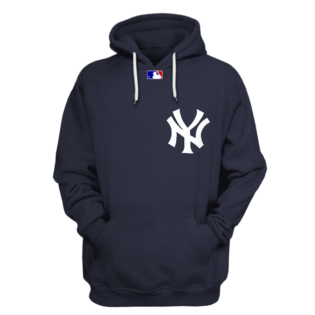 Personalized New York Yankees black 3D hoodie and T-shirt