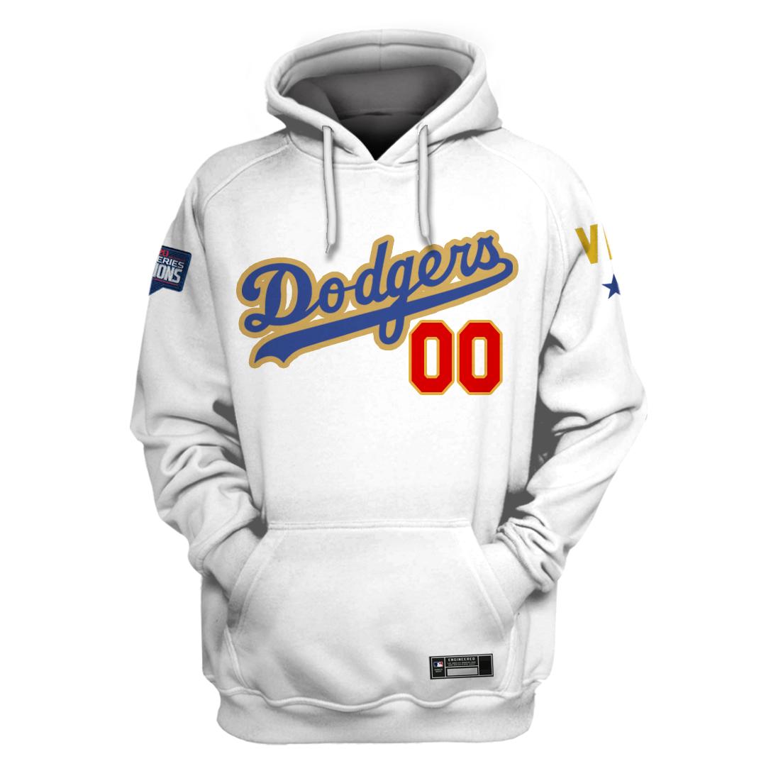 Custom Name MLB Los Angeles Dodgers hoodie sweatshirt