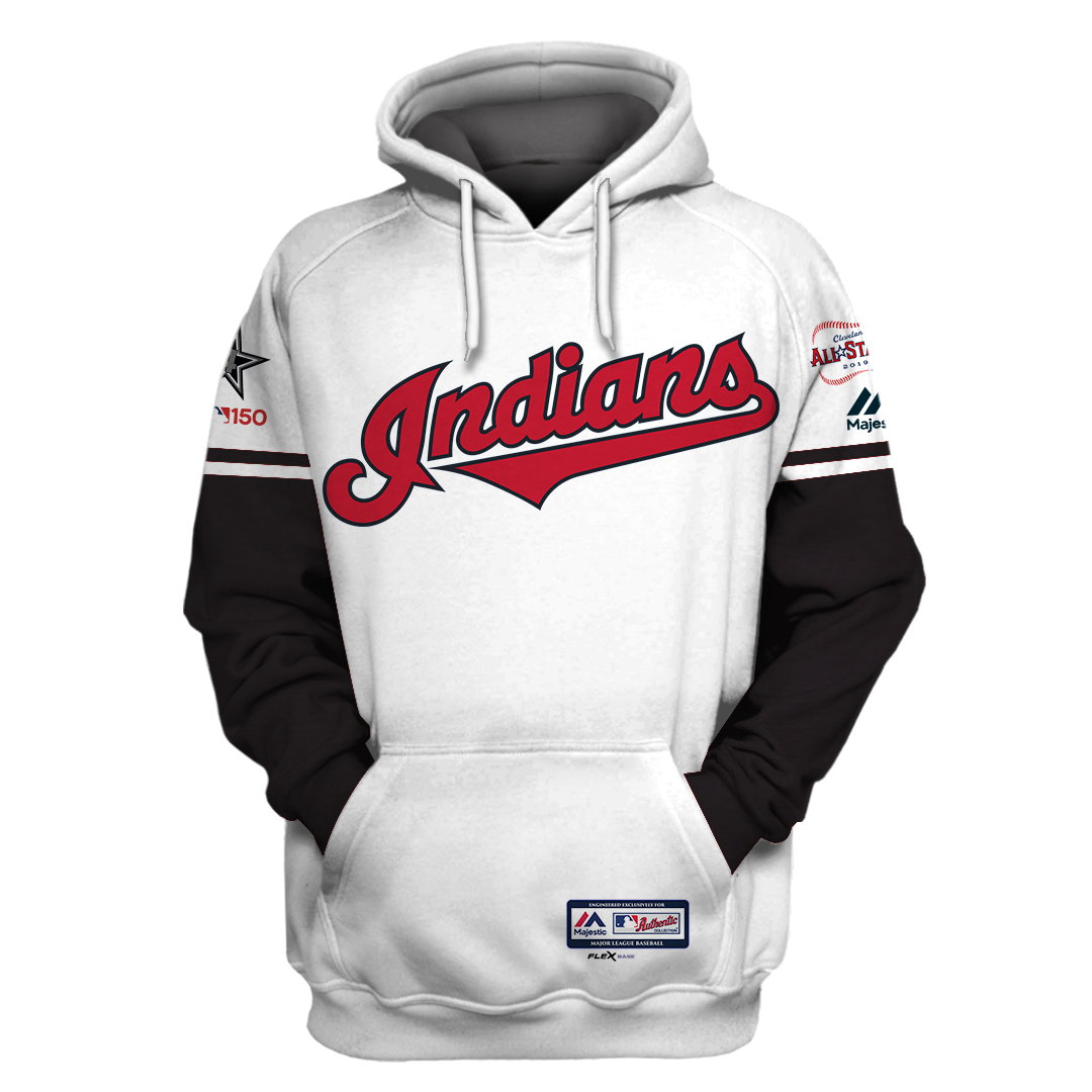 Custom Name Number MLB Cleveland Indians 3D hoodie and T-shirt