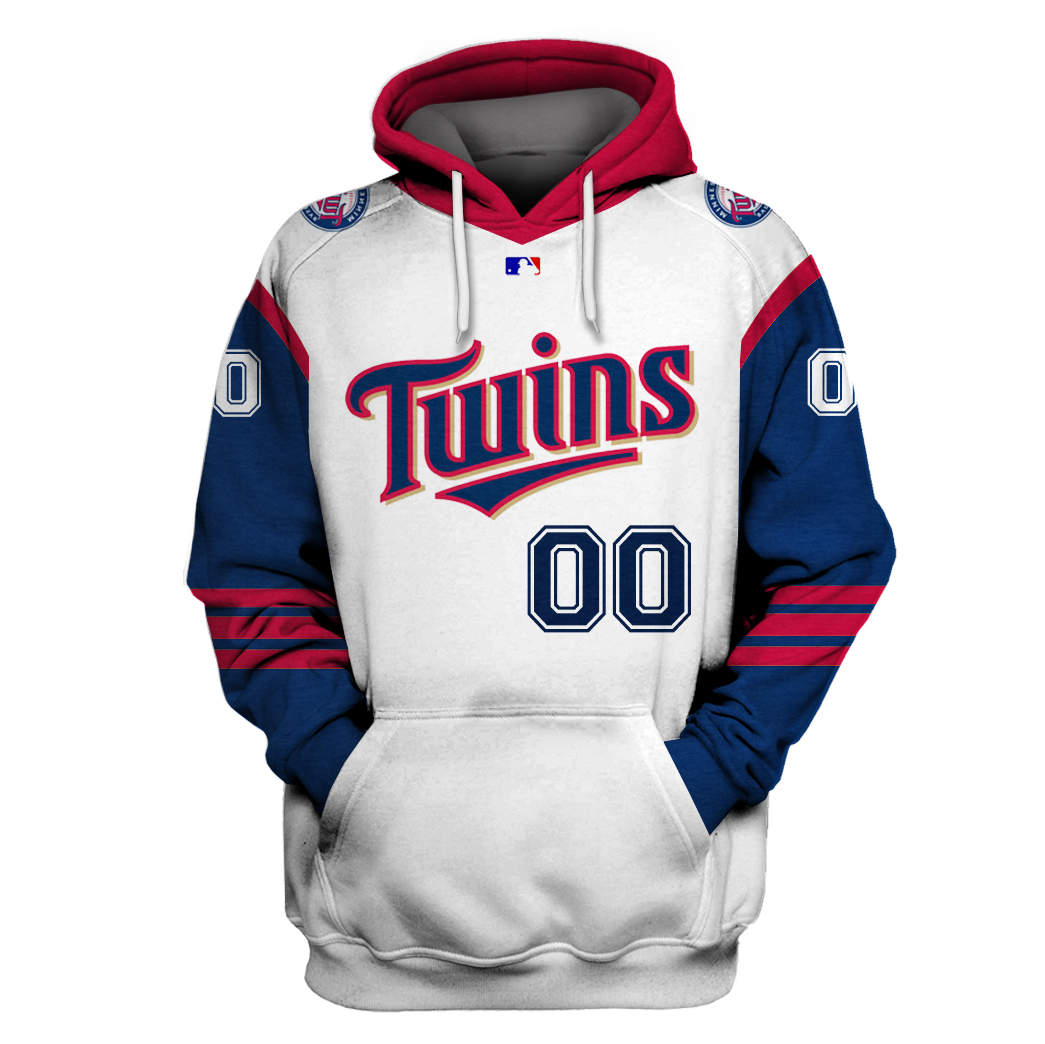 Personalized MLB Minnesota Twins 3D hoodie and T-shirt