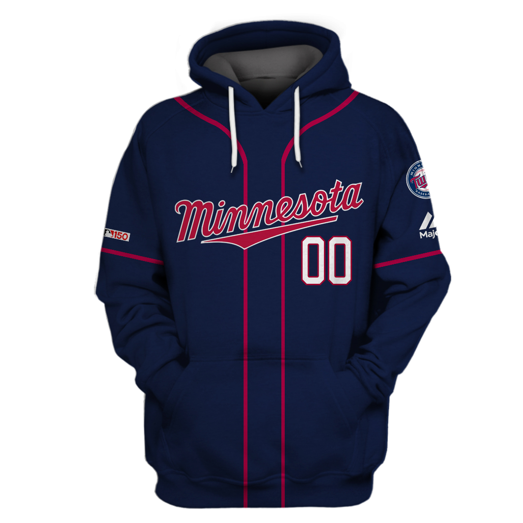 Custom Name Minnesota Twins dark tone hoodie sweatshirt