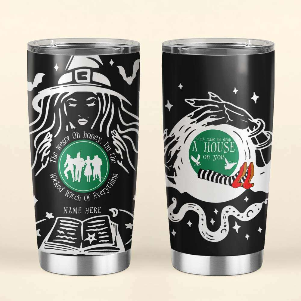 Personalized Halloween Wicked Witch Stainless Steel Tumbler Cup
